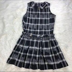 Dear Creatures plaid dress black & white mini RARE